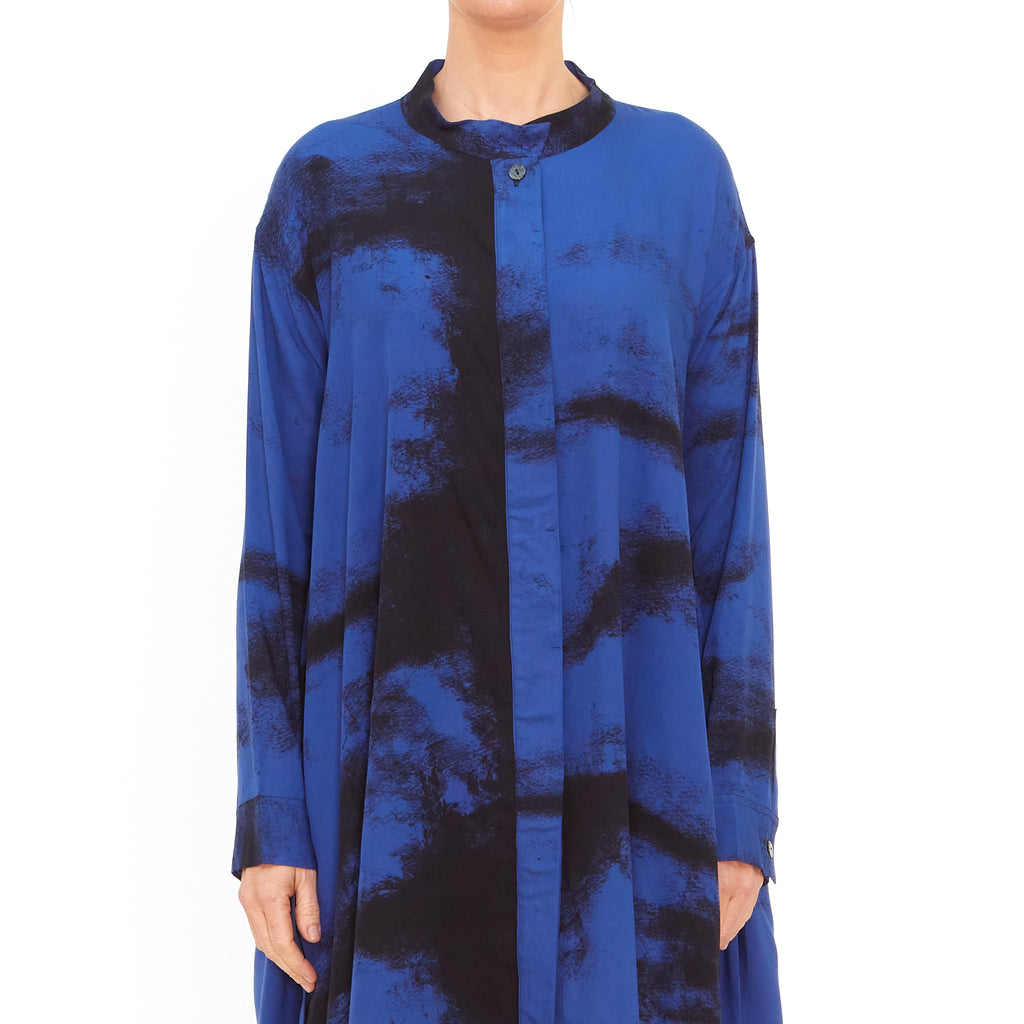 Moyuru, Blue Printed Shirt 201443-70 - Tiffany Treloar