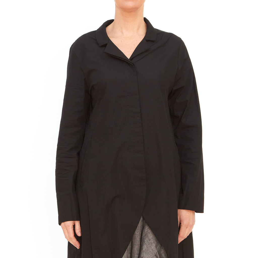 Moyuru, Black Cotton Shirt 201422-02 - Tiffany Treloar