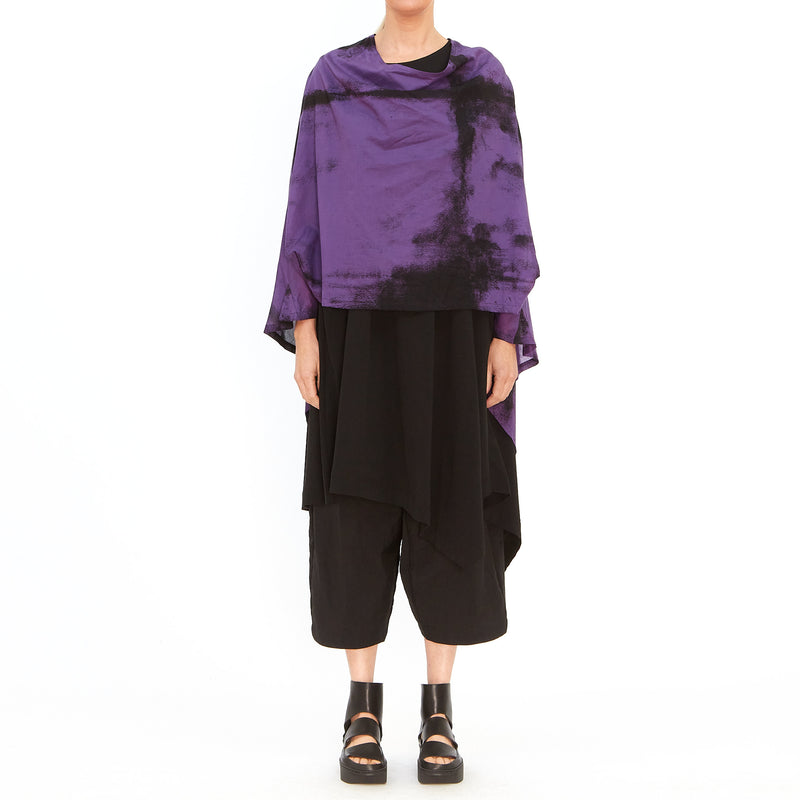 Moyuru, Purple Top with Black Print 201425-89 - Tiffany Treloar