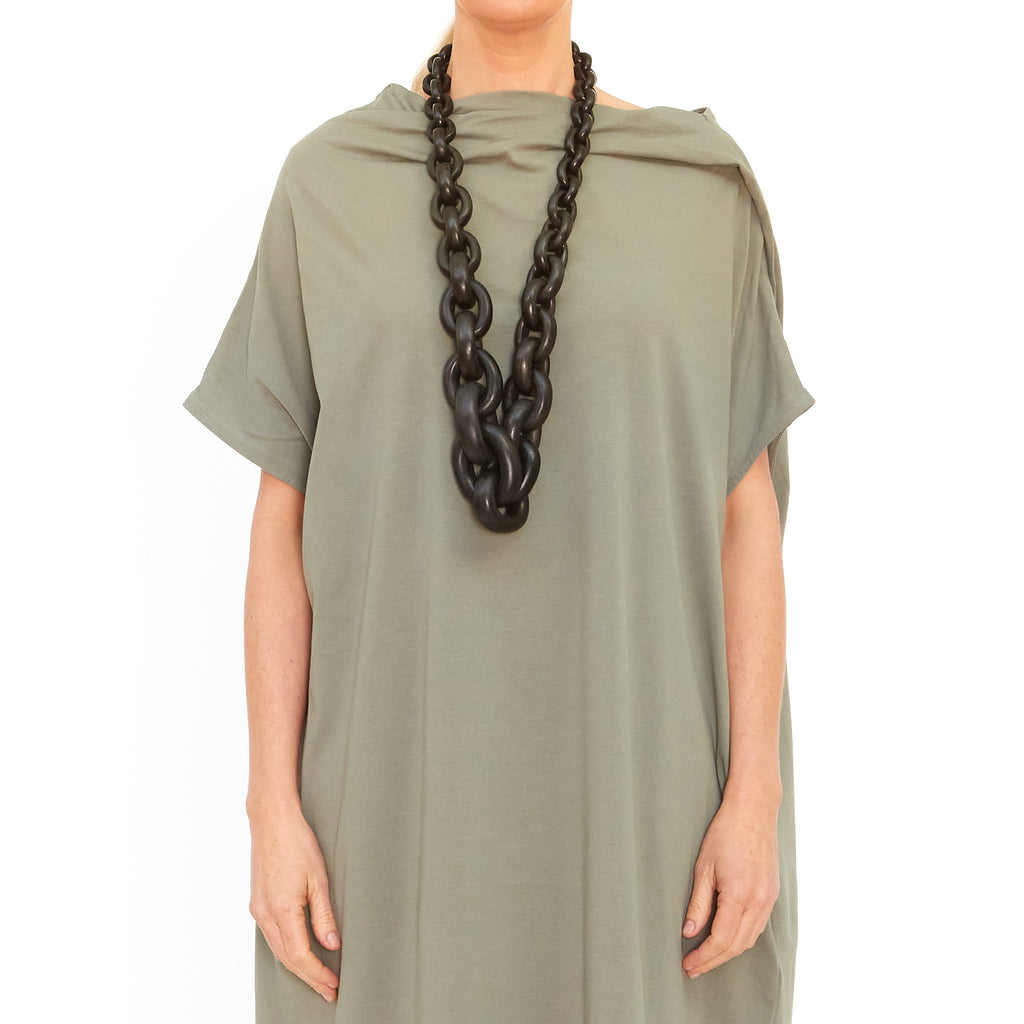 Moyuru, Light Khaki Dress 201004-90 - Tiffany Treloar