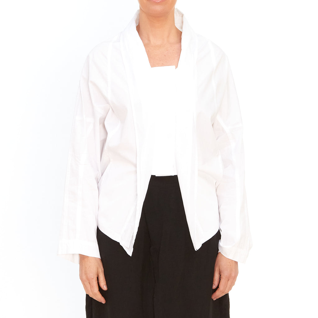Moyuru, White Shirt Jacket 201420-01 - Tiffany Treloar