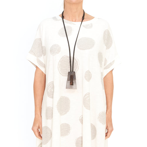 Moyuru, White Dress with Circles 201009-05 - Tiffany Treloar