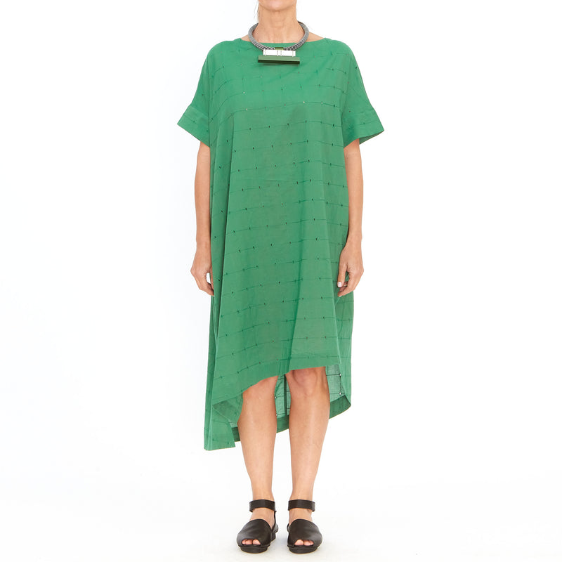 Moyuru, Green Broderie Anglaise Dress 201712-93 - Tiffany Treloar