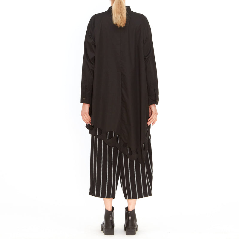 Moyuru, Black and White Stripe Wide Leg Pant 201633-02 - Tiffany Treloar