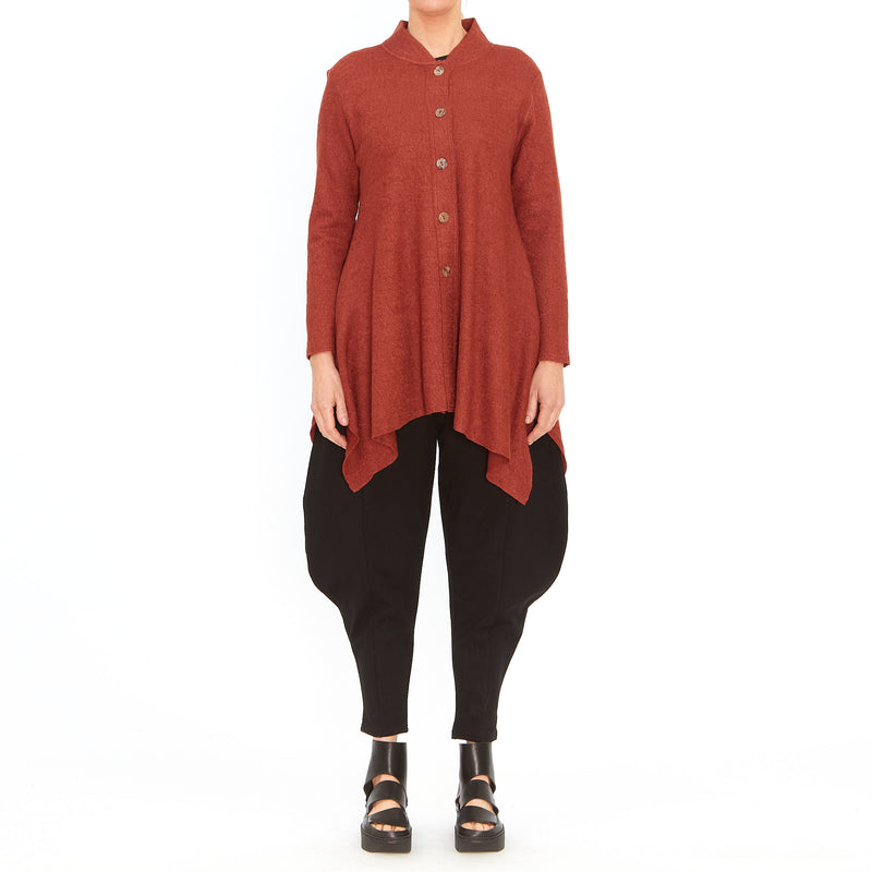 Tiffany Treloar, Atomic burnt orange cardigan - Tiffany Treloar
