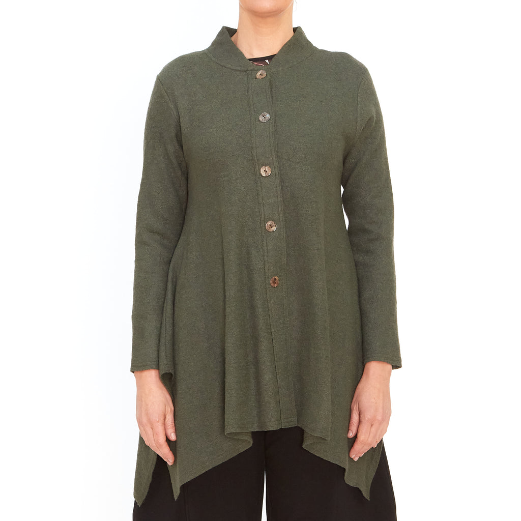 Tiffany Treloar, Atomic khaki cardigan - Tiffany Treloar