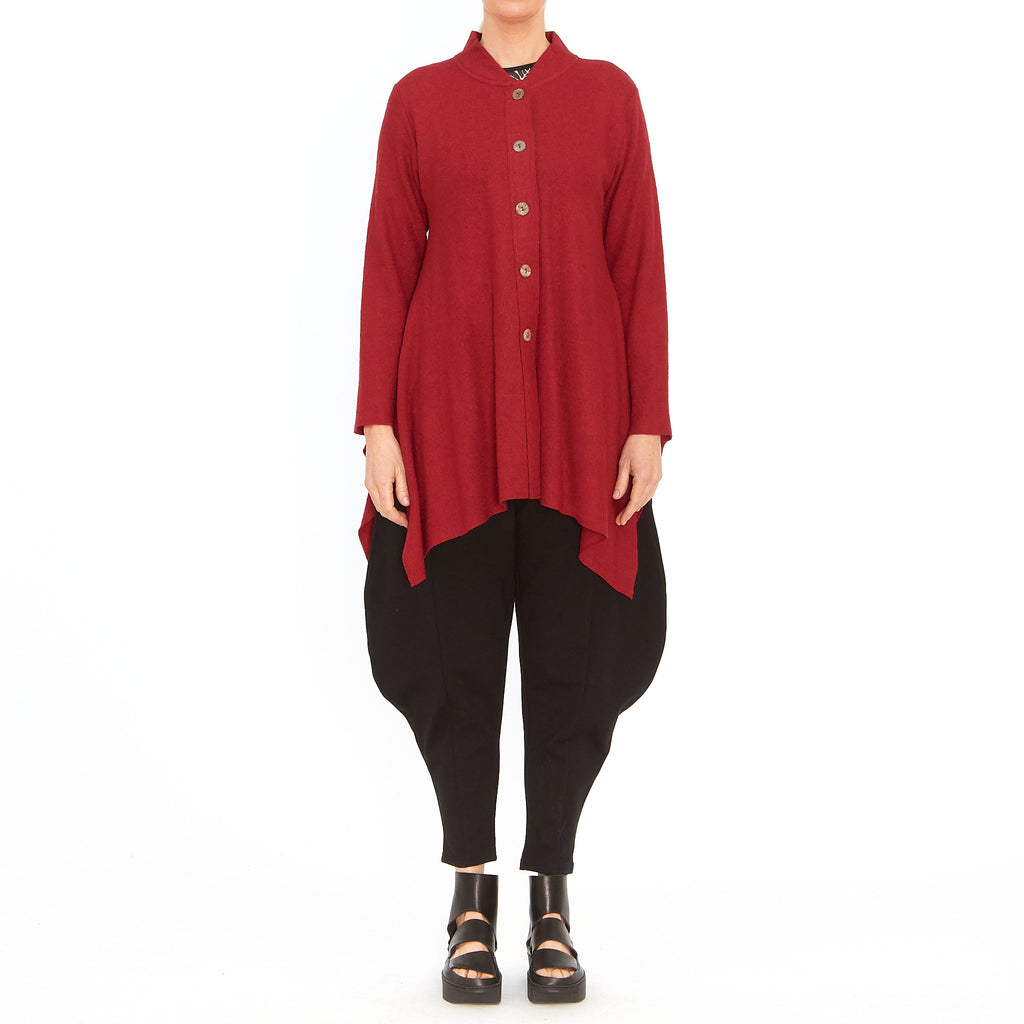 Tiffany Treloar, Atomic red cardigan - Tiffany Treloar