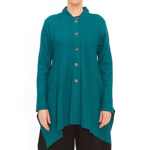 Tiffany Treloar, Atomic teal cardigan - Tiffany Treloar