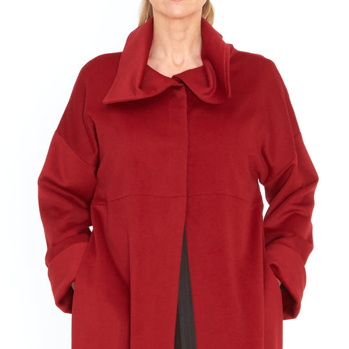 Tiffany Treloar, Wool Cashmere Coat Red - Tiffany Treloar