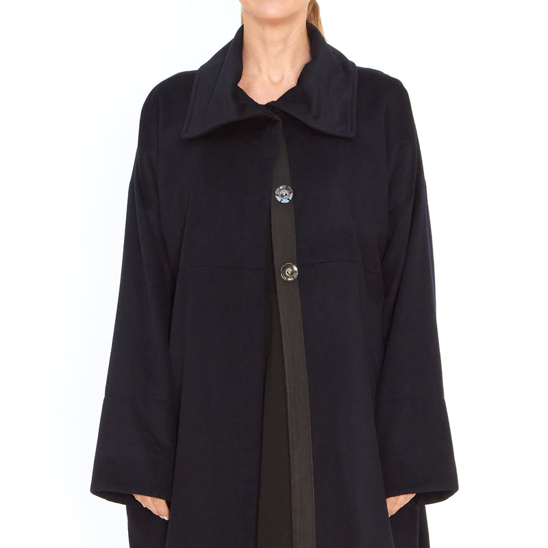 Tiffany Treloar, Wool Cashmere Coat Navy - Tiffany Treloar