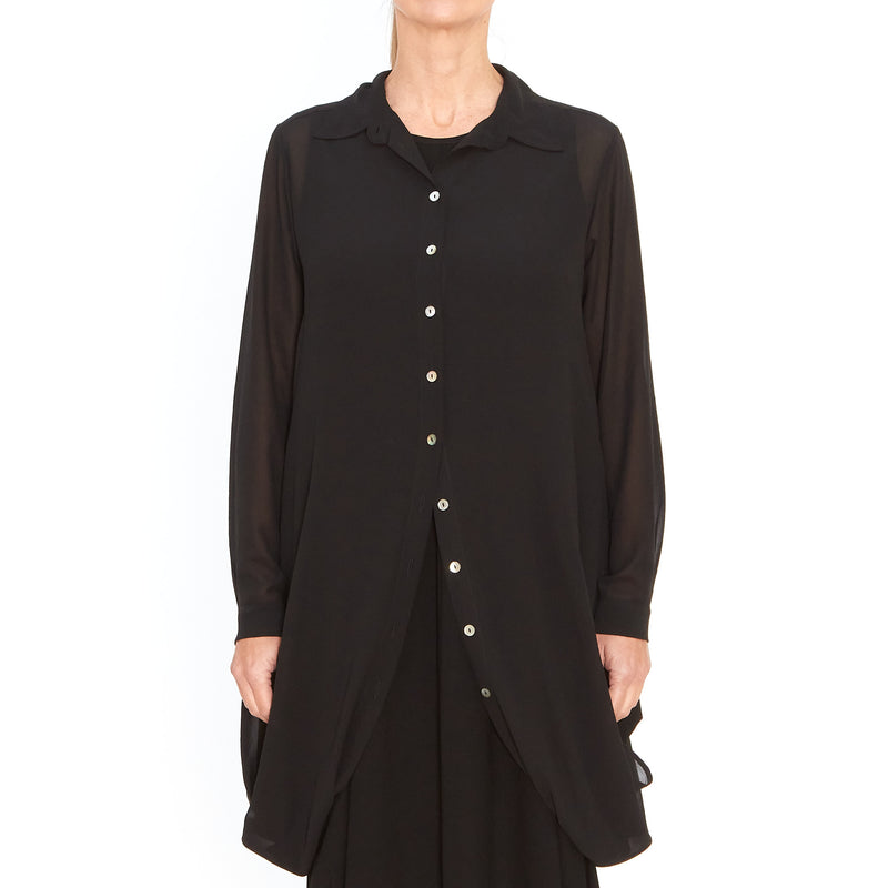 Tiffany Treloar, Tess Georgette Shirt Black - Tiffany Treloar