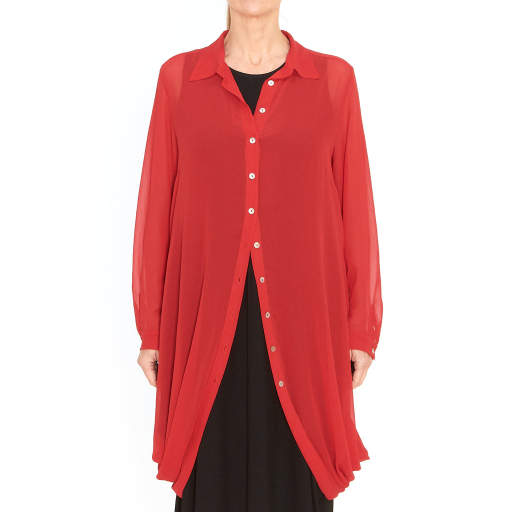 Tiffany Treloar, Tess Georgette Shirt Red - Tiffany Treloar