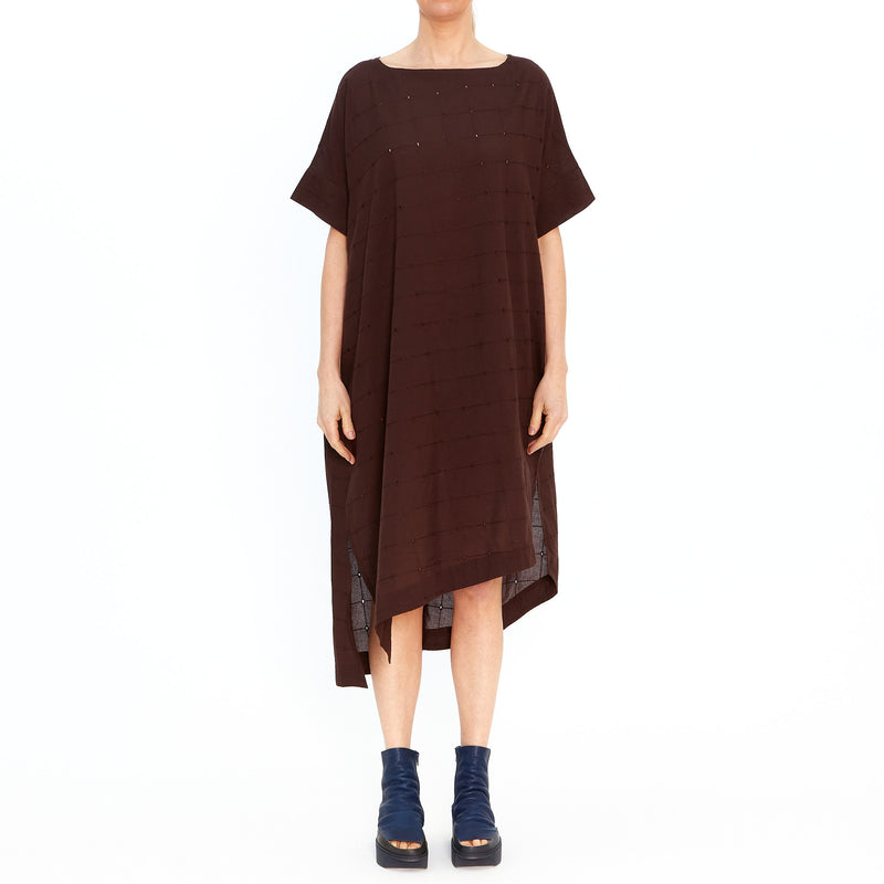 Brown Broderie Anglaise Dress 201712-30