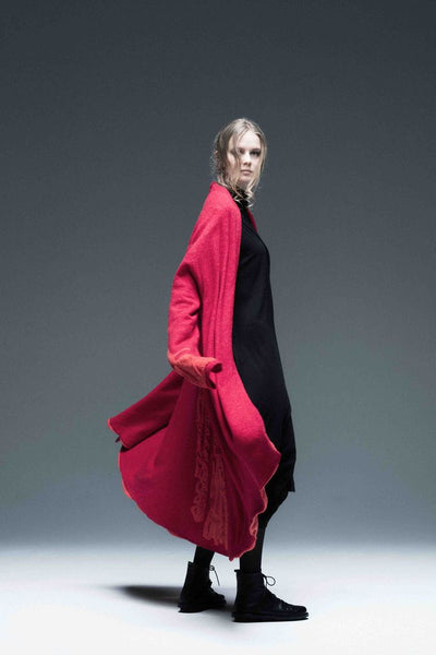 Moyuru Red/red Wool Coat Art Number 183303