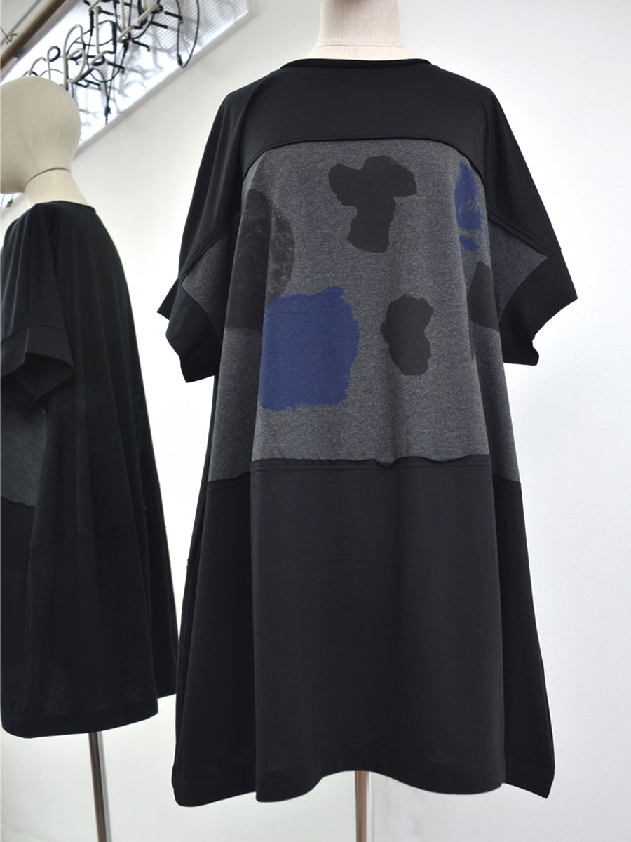 Moyuru Black/Navy Jersey Tunic 191000