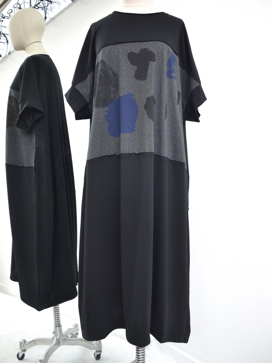 Moyuru Black/Navy Dress 191005