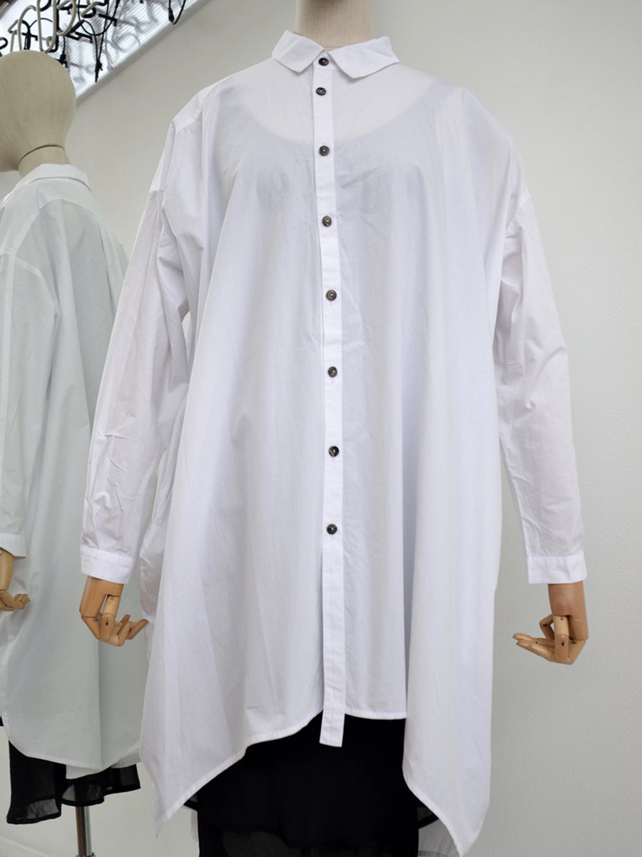 Moyuru, White Cotton Shirt 191417 - Tiffany Treloar