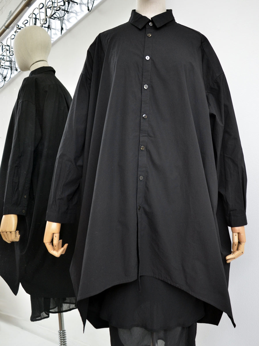 Moyuru black cotton shirt 191417-02