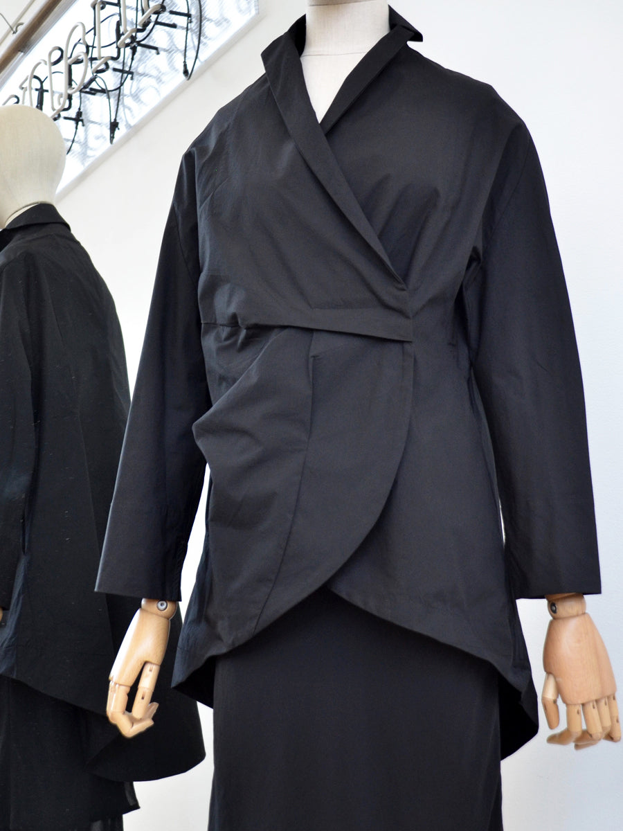 Moyuru, Black Cotton Jacket 191466 - Tiffany Treloar