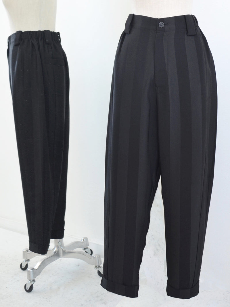 Moyuru Slim Black Striped Pant 191634