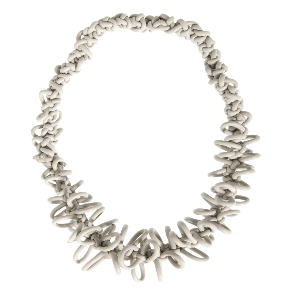 NEO, Neo 347 Ecru Crochet Necklace - Tiffany Treloar