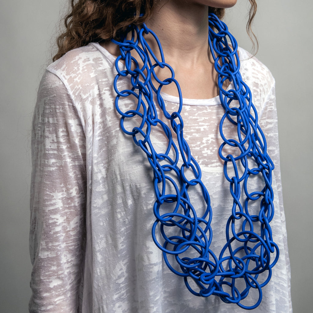 Neo 349 Blue Loop Long Necklace