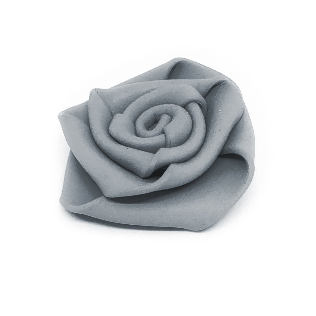 NEO130 Rose Brooch Grey
