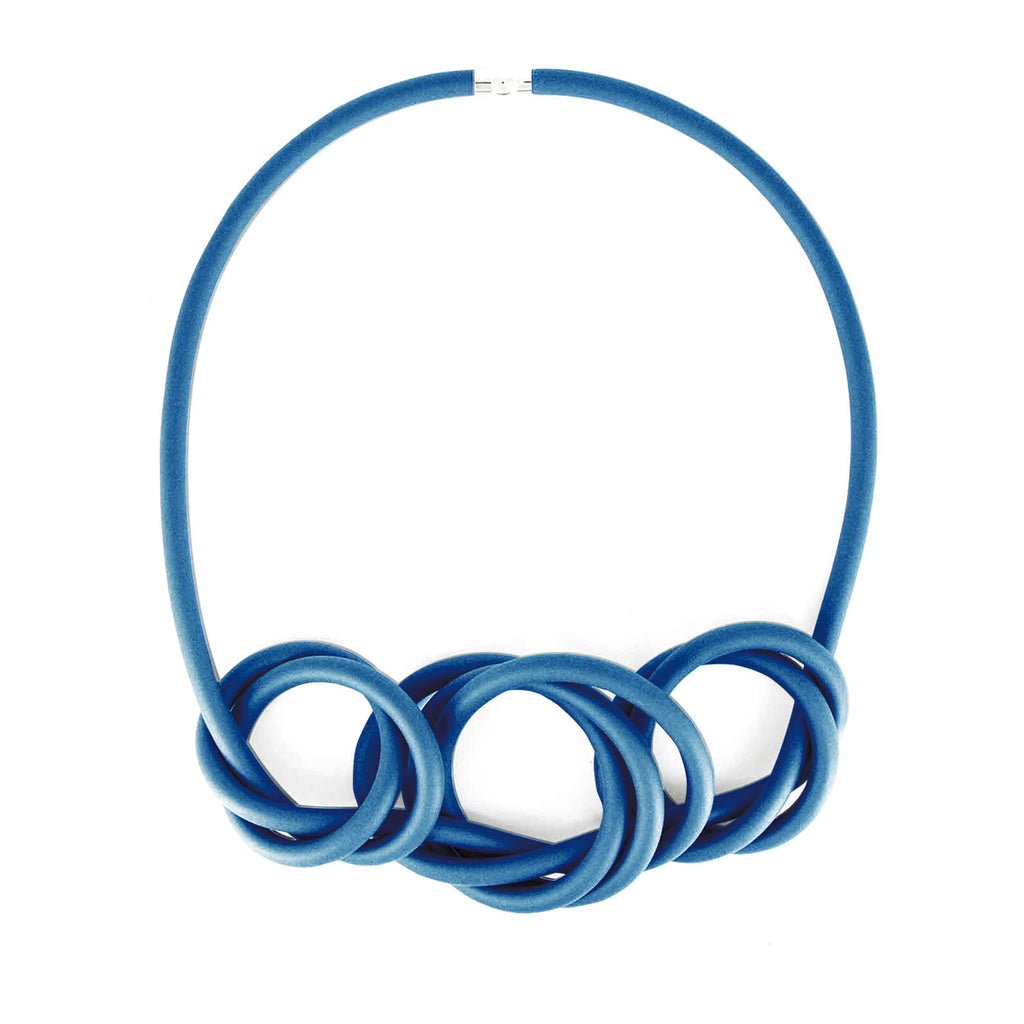 NEO 454 Blue Centre Loop Necklace