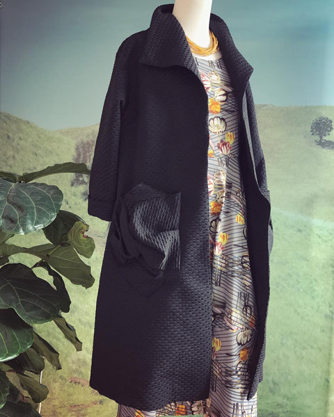Tiffany Treloar Portmanteau Coat Black Styled