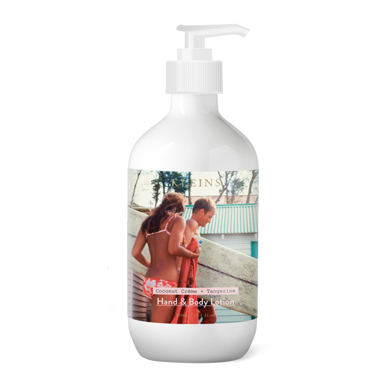 Surfer with Girl Hand & Body Lotion kleins perfumery rennie ellis tiffany treloar