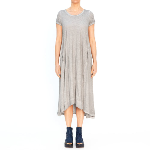 3420904-920 Long T-shirt Dress in Pebble