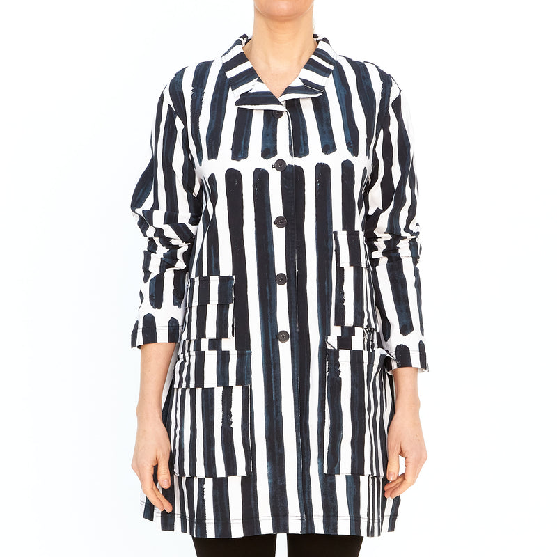 Coat in Bluestripe 3441223-336