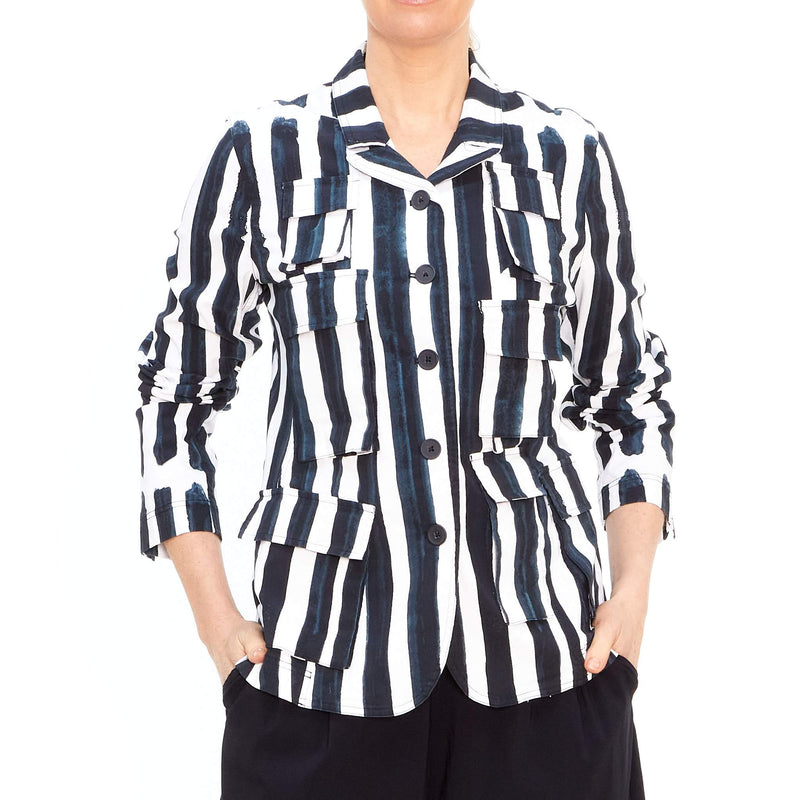 Pocket Jacket in Bluestripe 3441121-336