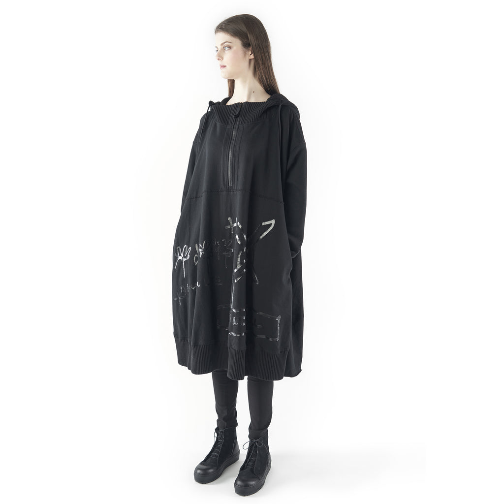 Rundholz, Oversize Hoody Dress 3280901-101 - Tiffany Treloar