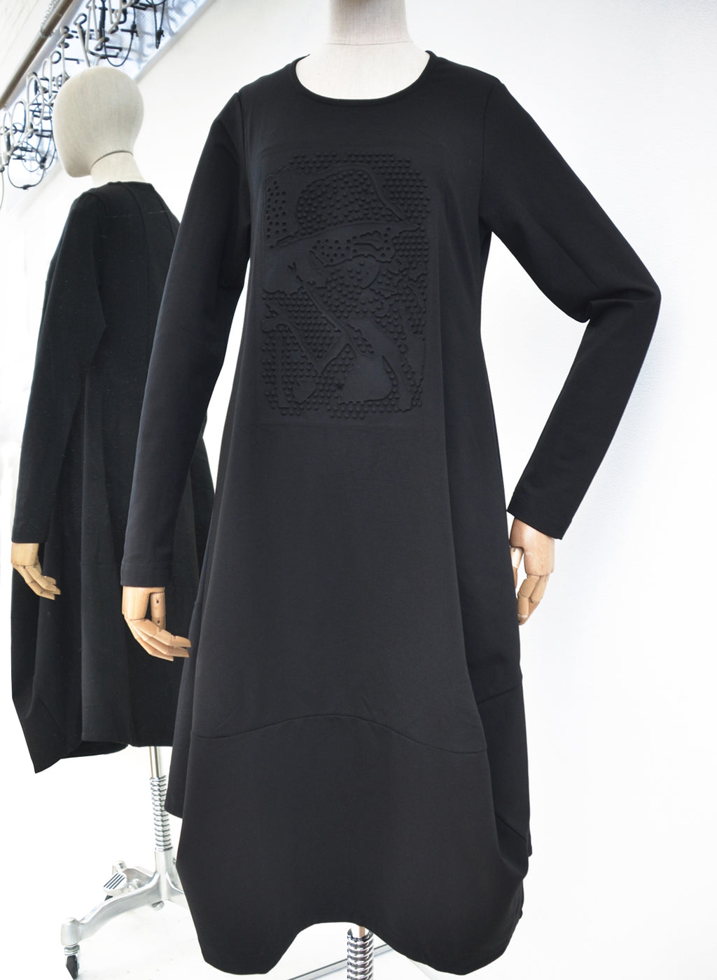 Rundholz Black Print Tulip Sweat Dress 218-3390907-106