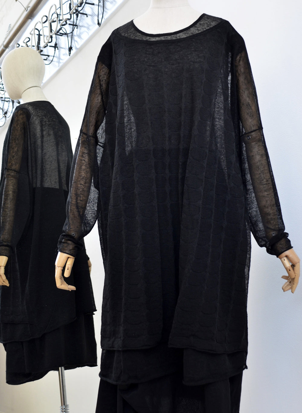 Rundholz Knitted Tunic Black 3507004-100