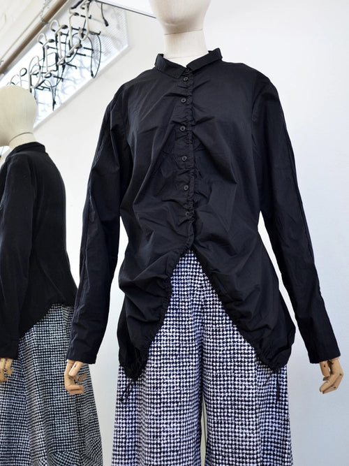Rundholz, Black Gathered Shirt 3360413-100 - Tiffany Treloar