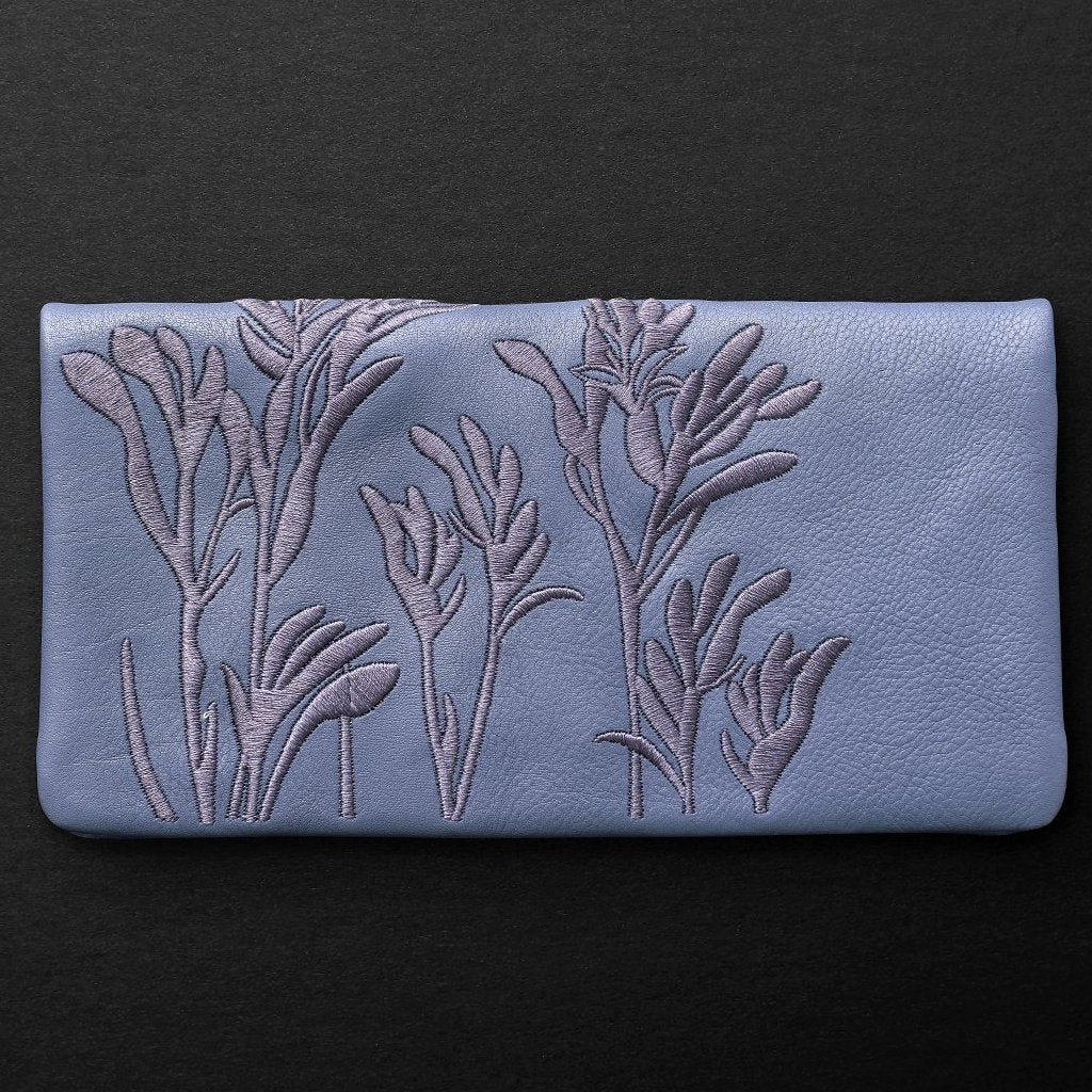 Kangaroo Paw Slimline Wallet Blue Willow