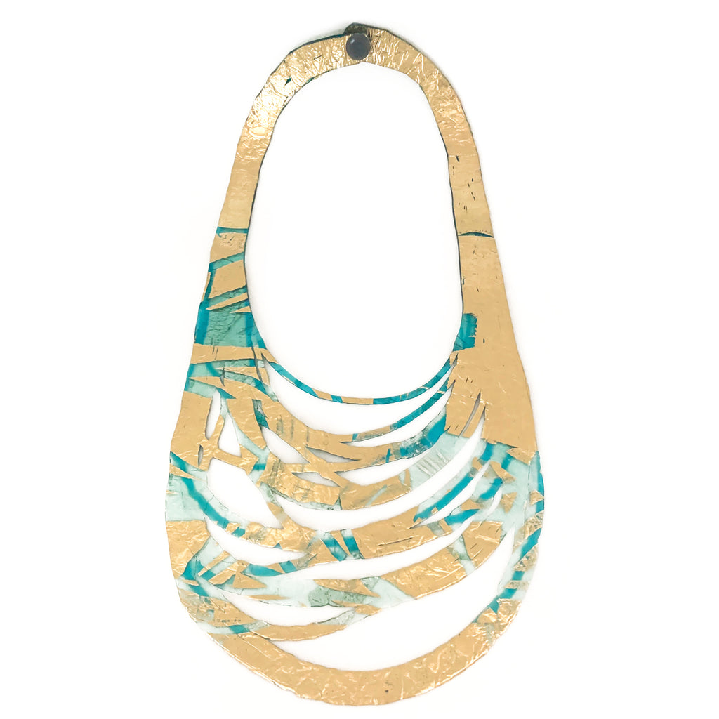 SI Sabato Isabel SI02 Multifilament Turquoise Short Necklace