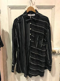 Striped Shirt Silver Noir