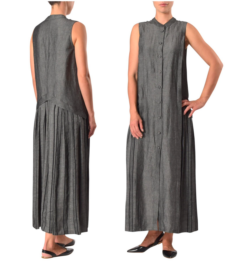 Linen Viscose Blend Dress 31123 col 950