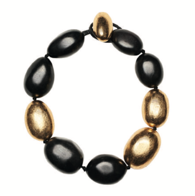 ALBANY NECKLACE BLACK/GOLD