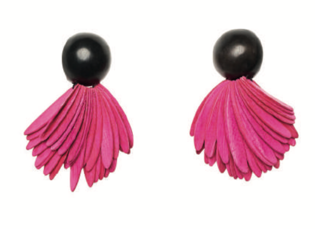 BOGOTA EARRINGS PINK/BLACK