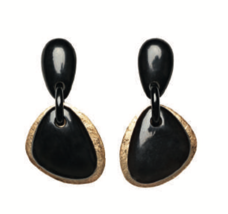 RIO EARRINGS BLACK/GOLD