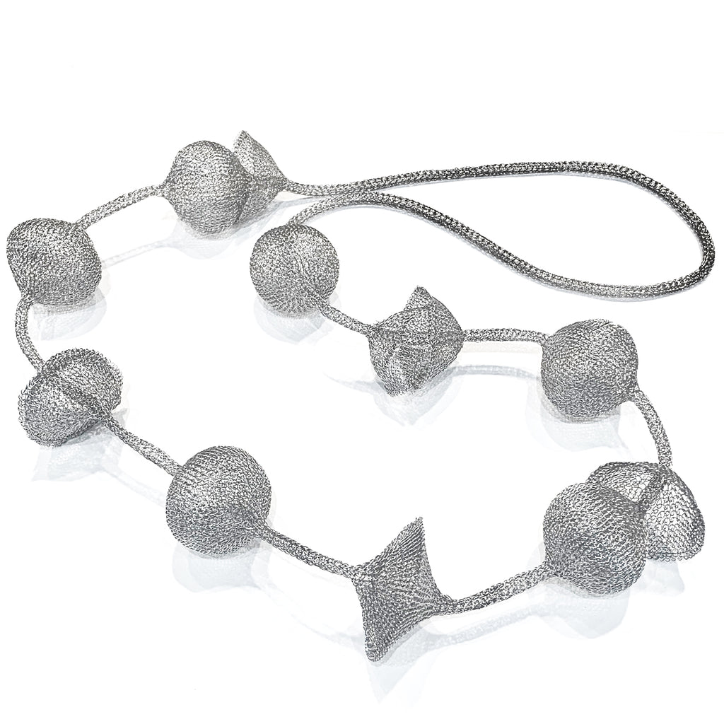 Soninke, French silver ball Necklace - Tiffany Treloar