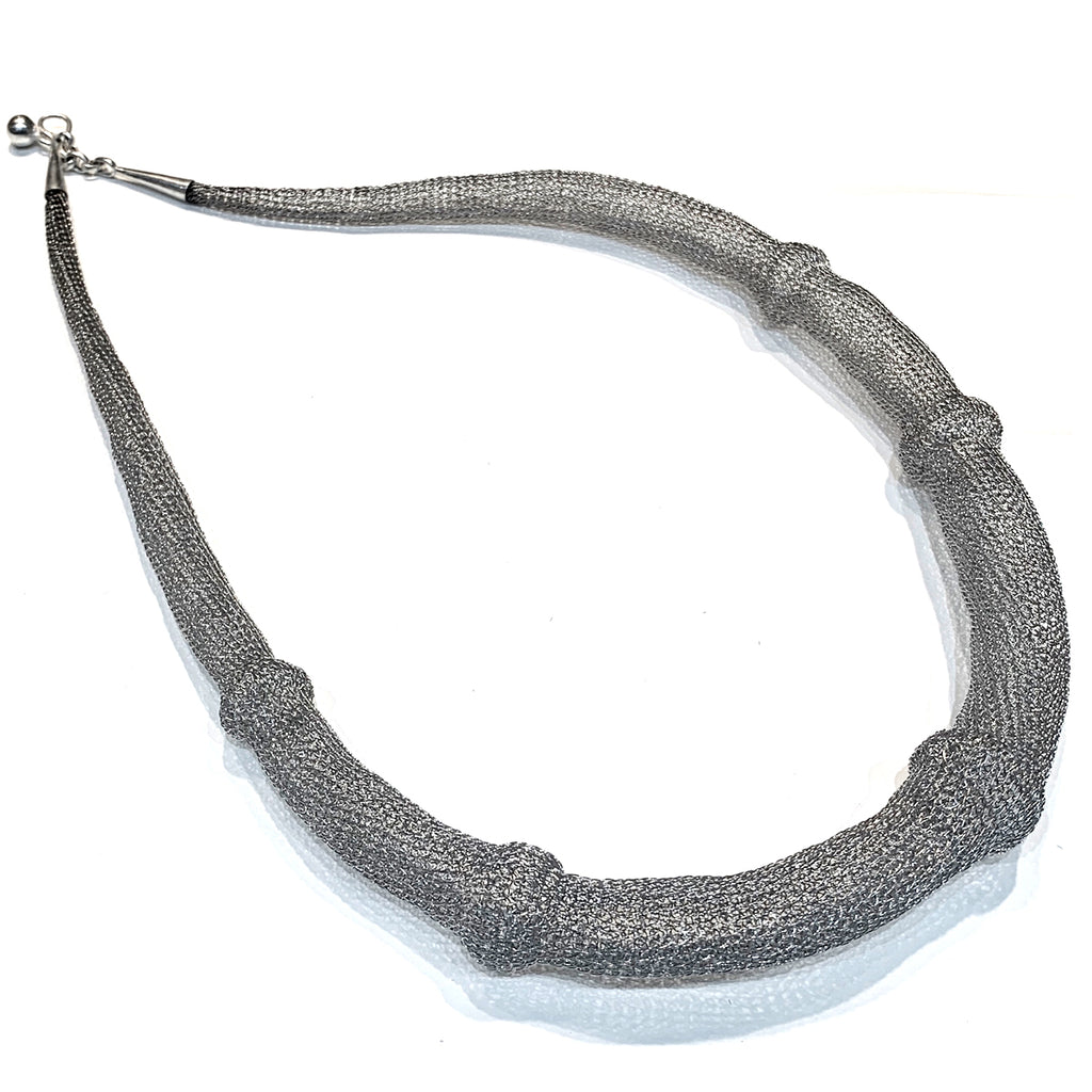 Soninke silver pipe necklace C2