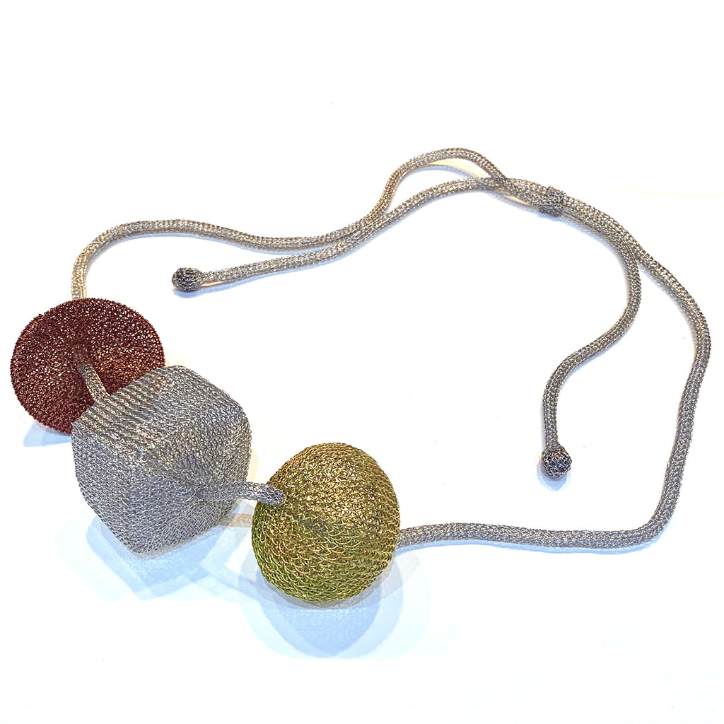 Soninke dark copper/gold necklace C28