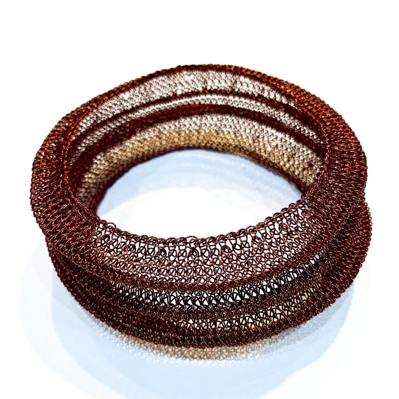 Soninke dark copper bracelet B10