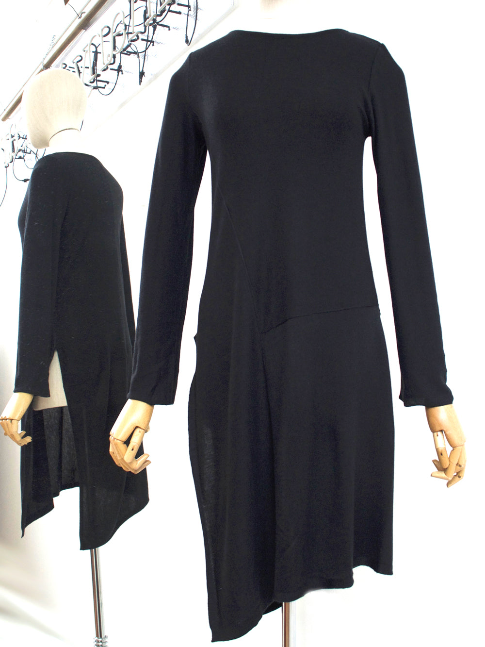Lurdes Bergada Sweater Dress Black LB M19-910