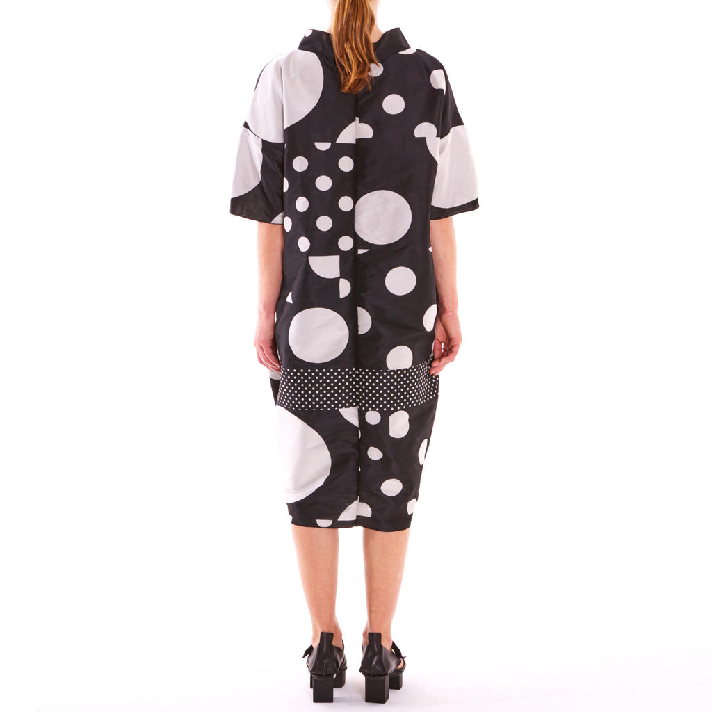 Lunar Spot Taffeta Dress